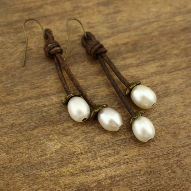 2 5 Mm Earrings: 9 -- 10 MM To 2.5 MM Hole Rice Pearls ETS-E077