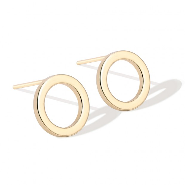 Aobei Pearl ,2-color 18k gold plated Open circle earrings ,Synthetic  earrings , hypoallergenic earring nuts,accessories earrings,Jewelry for Women,fashion ladies gifts ETS-E318