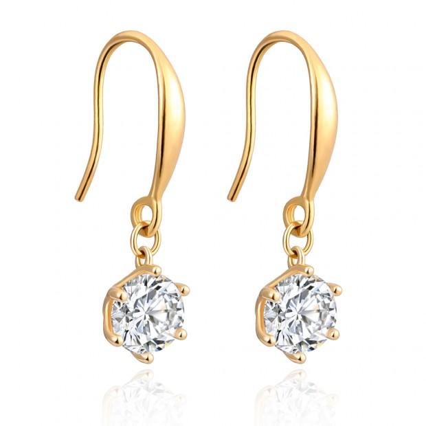 Aobei Pearl ,18K gold-plated zircon earrings,classic hook design,accessories earrings,golden earrings,Jewelry for Women,fashion ladies gifts ETS-E320