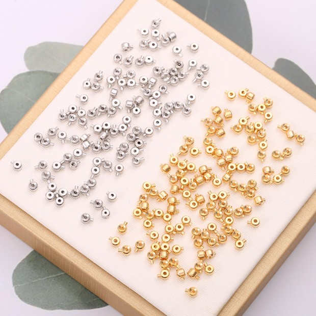 Aobei Pearl, 10 PCS from the Sale, 18K Gold Plated Positioning Beads for Jewelry Making, Jewelry Findings, DIY Jewelry Material, ETS-K323