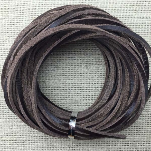 10 yards,3MM * 2MM deep brown leather rope,leather cord for necklace and bracelet,original leather color,genuine natural leather cord,leather cord,ETS-P015