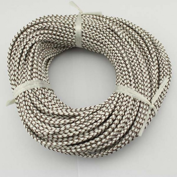10 yards ,Bracelet leather cord,genuine leather cord,3.0mm-6.0mm thick leather cord,white leather cord,leather cord for jewelry, ETS-P018