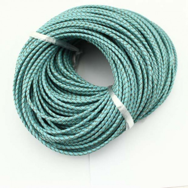 10 yards, Blue leather cord 3.0mm-6.0mm leather cord,bracelet natural genuine leather cord for jewelry,ETS-P020