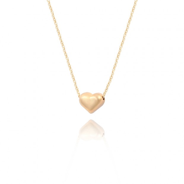 Aobei Pearl Handmade Heart shaped beanie pendant Necklace for Women 18K Gold Plated Cable Chain Choker Fashion Adjustable Jewelry, Drop Necklace, ETS-S1025
