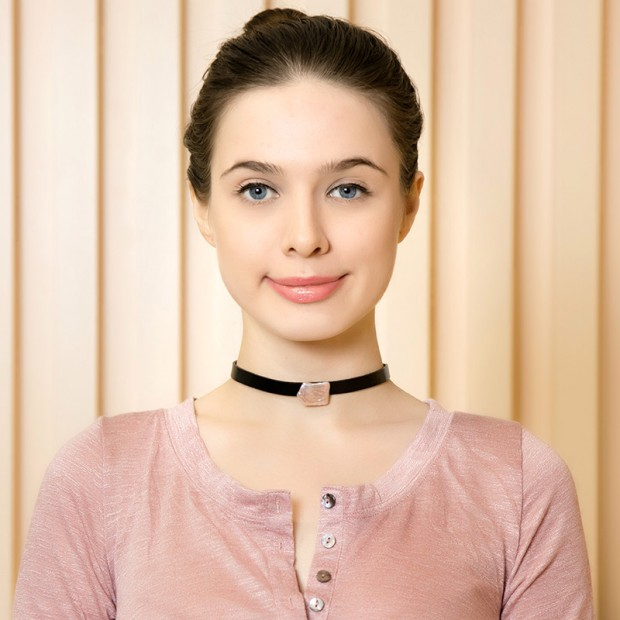 Aobei Pearl - Handmade Choker Necklace made of Freshwater Pearl and Flat Leather Cord, Pearl Necklace, Leather Necklace, Collar Necklace, Women's Pearls Necklace, ETS-S578