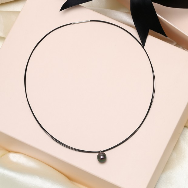 Aobei Pearl Handmade Necklace with Pearl, 925 String Silver Accessory and Japanese Stainless Steel Wire, Pearl Choker, ETS-S834