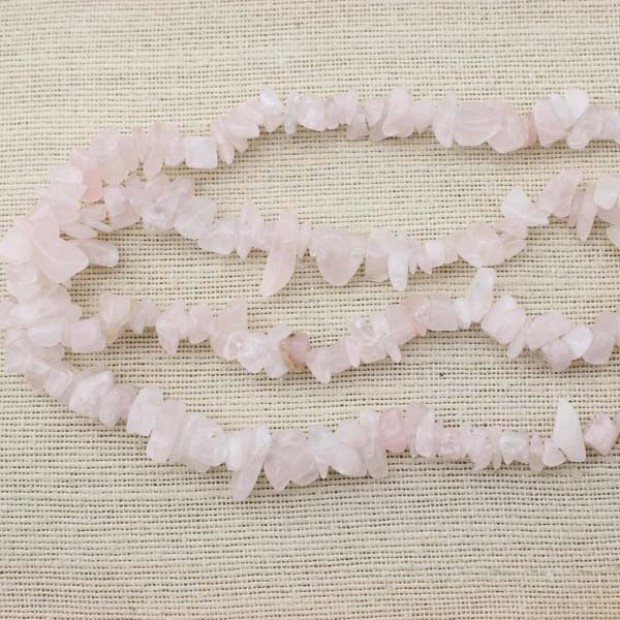 A string of 90cm long  ETS -T035  size 7-9mm * 5-20mm diameter hole 1.5mm Crystal powder pink