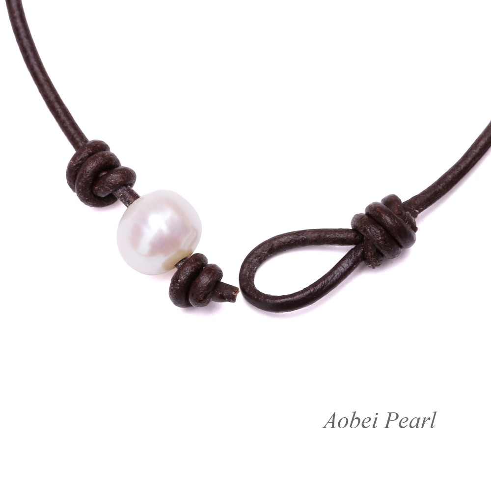 how to make beaded bracelets with leather cord