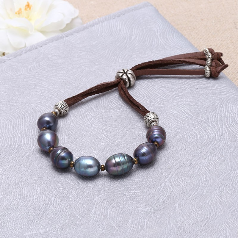 Aoebi Pearl, Handmade Pearl & Suede Jewelry Set, Pearl ...