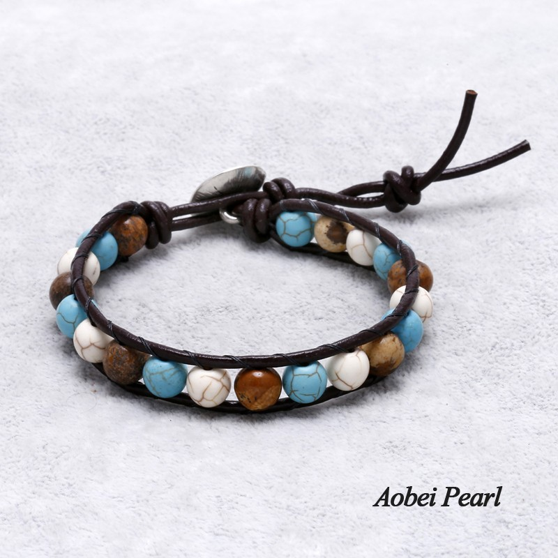Aobei Pearl Handmade Bracelet made of 8 mm Round Natural