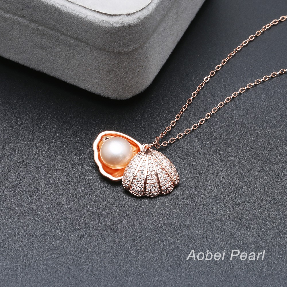 Aobei Pearl Handmade Shell Amp Pearl Pendant Necklace
