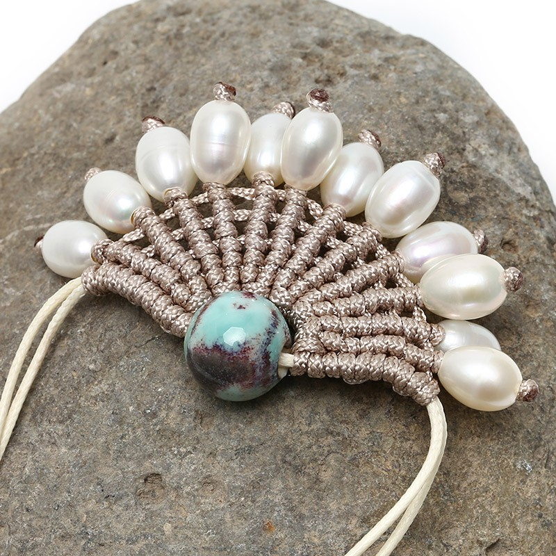 Handwoven White Cultured Freshwater Pearls Choker Necklace ...