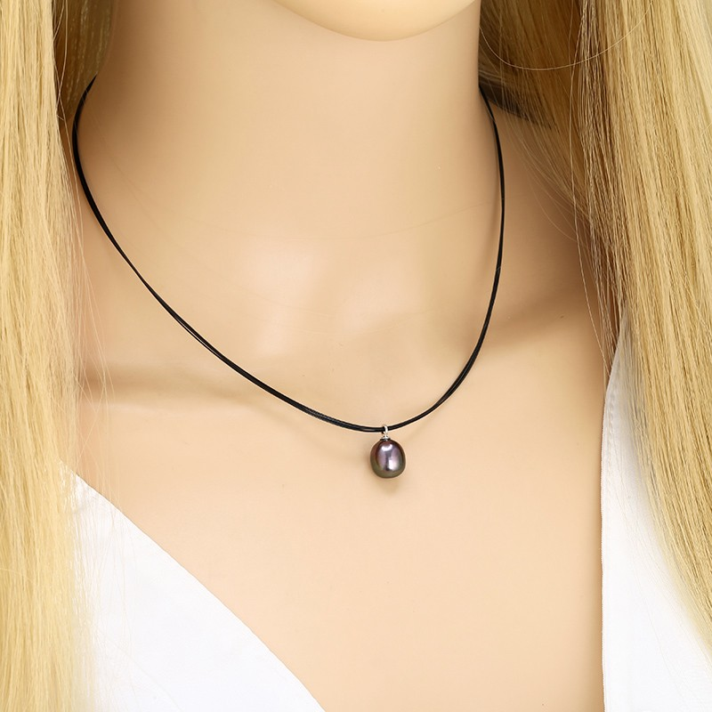 Aobei Pearl Handmade Necklace with Pearl, 925 String Silver ...