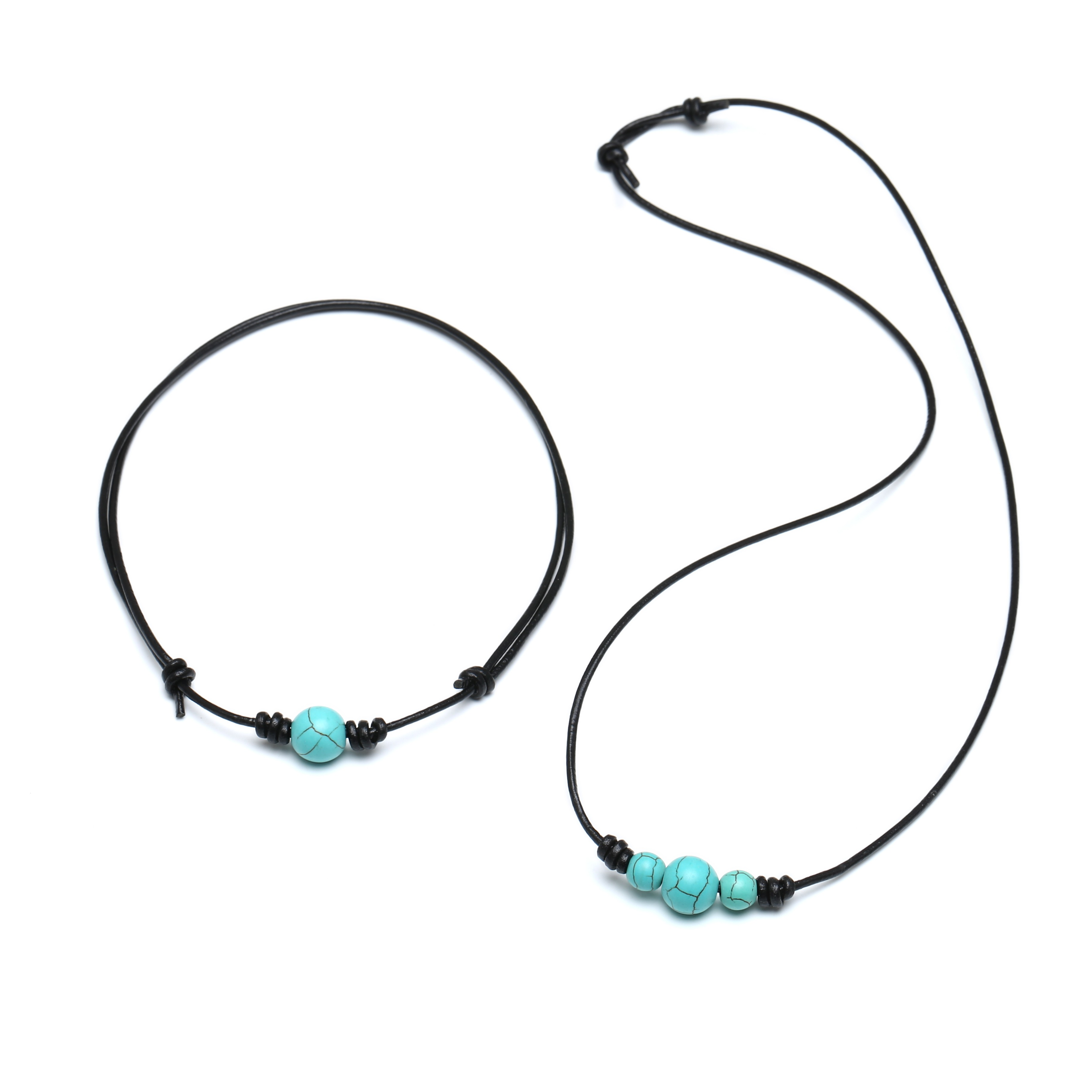 Aobei Pearl, Handmade Necklace made of Single Turquoise ...