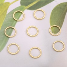 Aobei Pearl, 4 PCS from the Sale, 18K Gold Round Circle Charm for Jewelry Making, Jewelry Findings, DIY Jewelry Material, ETS-K597