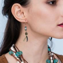 ETS-E140 2.4'' Natural Jewelry Stone Handmade Fashion Fine Earrings