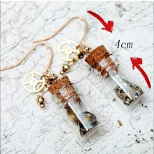 ETS-E154 handmade watch accessories bottle Retro style earring