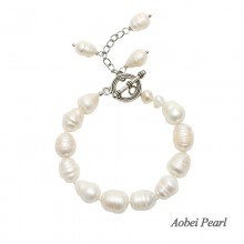 Aobei Pearl Handmade Bracelet made of Freshwater Pearl and Alloy Accessory, Pearl Bracelet, ETS-B196
