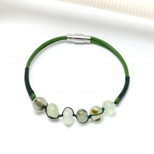 Aobei Pearl, Summer Bracelet with Natural Stones, Leather Bracelet, ETS-B510