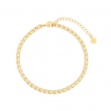 Aobei Pearl 18k Gold Scroll Chain Bracelet for Women Gilrs Handmade Adjustable Link Bracelet Anklet for Women, Fashion Gold Jewelry for Women ETS-B591