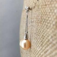 Aobei Pearl, Freshwater Pearl Earring, Dangle Earring, Pearl Earring, ETS-E028