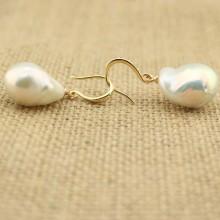 13-14 mm keshi k strange color pearl earrings  ETS-E045