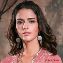 Aobei Pearl Handmade Vintage Earring made of Zinc-alloy Accessory, Drop Earring, Fashion Dangle Earring for Women, ETS-E149
