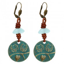 Aobei Pearl---Handmade Earring with Colorful Crystal-glass Beads in Vintage Style ! ETS-E262