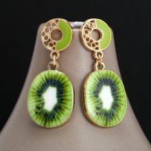 Aobei Pearl Handmade Earring in Cute Fruit Pendant for Sweet Girls, ETS-E265