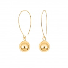 Aobei ,18k gold plated shiny ball earrings ,Organ beads earrings,handmade art,metal crafts,accessories earrings,Charm Jewelry for Women Holiday gifts,fashion ladies gifts,surprises, ETS-E324