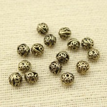 10 pcs, Bracelet accessories,jewelry finding,bronze Plated beads,beads for bracelet,necklace beads,8mm beads for jewelry, ETS-K008