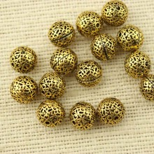 10 pcs, Gold Plated Beads, DIY Jewelry Making Supplies,beads for necklace, Antique Jewelry Spacer, Jewelry Accessories,ETS-K009