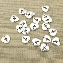 10 pcs ,Bracelet pendant,Zine-alloy bracelet charm,16MM*16MM heart shaped pendant,necklace pendant,jewelry pendant,findings,supplier,ETS-K031