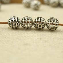 20 pcs, Hollow zine alloy ball beads, alloy beads, ball beads, jewelry supplies, loose beads ,ETS - K034