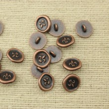 20 pcs, Red bronze spear sign button clasp, jewelry clasp, bracelet clasps, jewelry supplies, ETS - K035