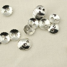 30 pcs, 15 mm bowl zine ally button clasp, lead free, nickel free, jewelry supplies, beads in bulk, ETS - K037