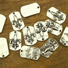 10 Pieces 16 mm * 27 mm Square alloy pendant, alloy charm pendant, jewelry findings, pendant, ETS - K049