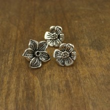20 Beads Alloy flower charm, flower findings, craft supplies, ETS-K061