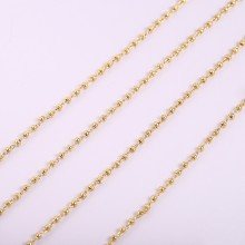 Aobei Pearl, 1 Meter from the Sale, 18k Shiny Gold Satellite Chains, Gold Link Chain, 1.8mm Ball Chains, Soldered Bead Chains, Flat Cable Chain,ETS-K1281