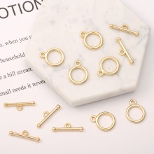 Aobei Pearl, 5 Pairs from the Sale, 18K Gold OT Toggle Clasp for Jewelry Making, Jewelry Findings, DIY Jewelry Material, ETS-K244