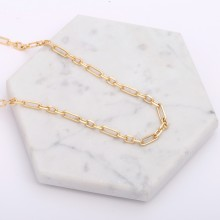 Aobei Pearl, 1 Meter from the Sale, 18K Gold Long and Short Chain Link for Jewelry Making, Jewelry Findings, DIY Jewelry Material, ETS-K246