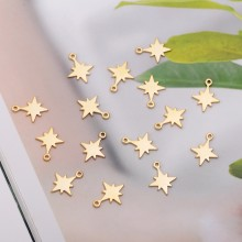 Aobei Pearl, 20 PCS from the Sale, 18K Gold Plated North Star Charm for Jewelry Making, Jewelry Findings, DIY Jewelry Material, ETS-K259