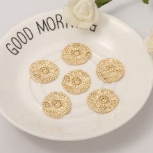 Aobei Pearl, 4 PCS from the Sale, 18K Gold Plated Sun Pattern Disc Charm for Jewelry Making, Jewelry Findings, DIY Jewelry Material, ETS-K290
