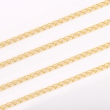 Aobei Pearl, 1 Meter from the Sale, 18K Gold Plated Scroll Link Chain for Jewelry Making, Jewelry Findings, DIY Jewelry Material, ETS-K317
