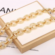 Aobei Pearl, 1 Meter from the Sale, 18K Gold Plated Chunky Round Link Chain for Jewelry Making, Jewelry Findings, DIY Jewelry Material, ETS-K361
