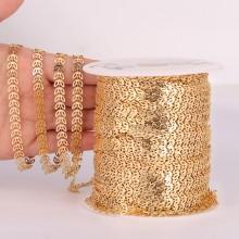 3.3feet shiny gold arrow chains,6mmchevron chain,fish bone chain,bulk chain, chokernecklace chain ,gold plated findings ETS-K416
