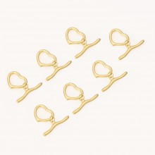 Aobei Pearl, 4 Sets form the Sale, 18K Gold Heart Shape OT Toggle for Jewelry Making, Jewelry Findings, DIY Handmade Earring Accessories, ETS-K529