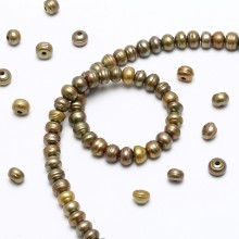 Aobei Pearl - 30 Pcs 2.5mm large hole freshwater pearls, 10-11mm big button loose pearl beads, loose freshwater pearl, lake pearls,ETS - L0047