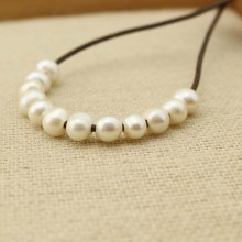 Aobei Pearl, 20 pcs 2.5mm large hole freshwater pearl, 8-9mm potato loose pearl bead, loose freshwater pearl,  ETS - L0052