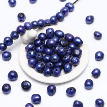 10 pcs 2.5mm big hole freshwater pearl, 12-13mm big baroque loose pearl bead, loose freshwater pearl, ETS-L0056